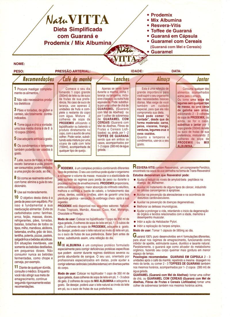 Dieta Simplificada Natu Vitta